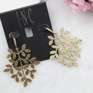 I.n.c. Gold-Tone Leaf Drop Earrings